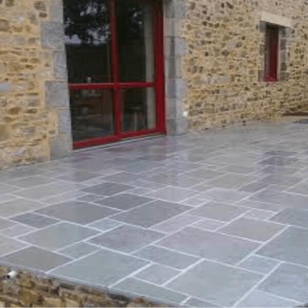 sandstone gri pavaj curte